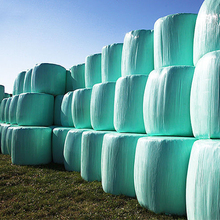 Green plastic corn silage PE stretch wrap film for agriculture hay bale wrap