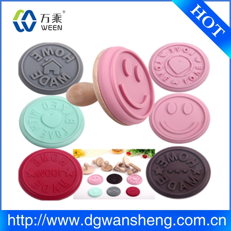 factory customized cookie cutter, custom silicone cookie press stamps for cookies