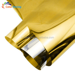 152cm*30M gold silver building window solar tint semi transparent mirror film with adhesive