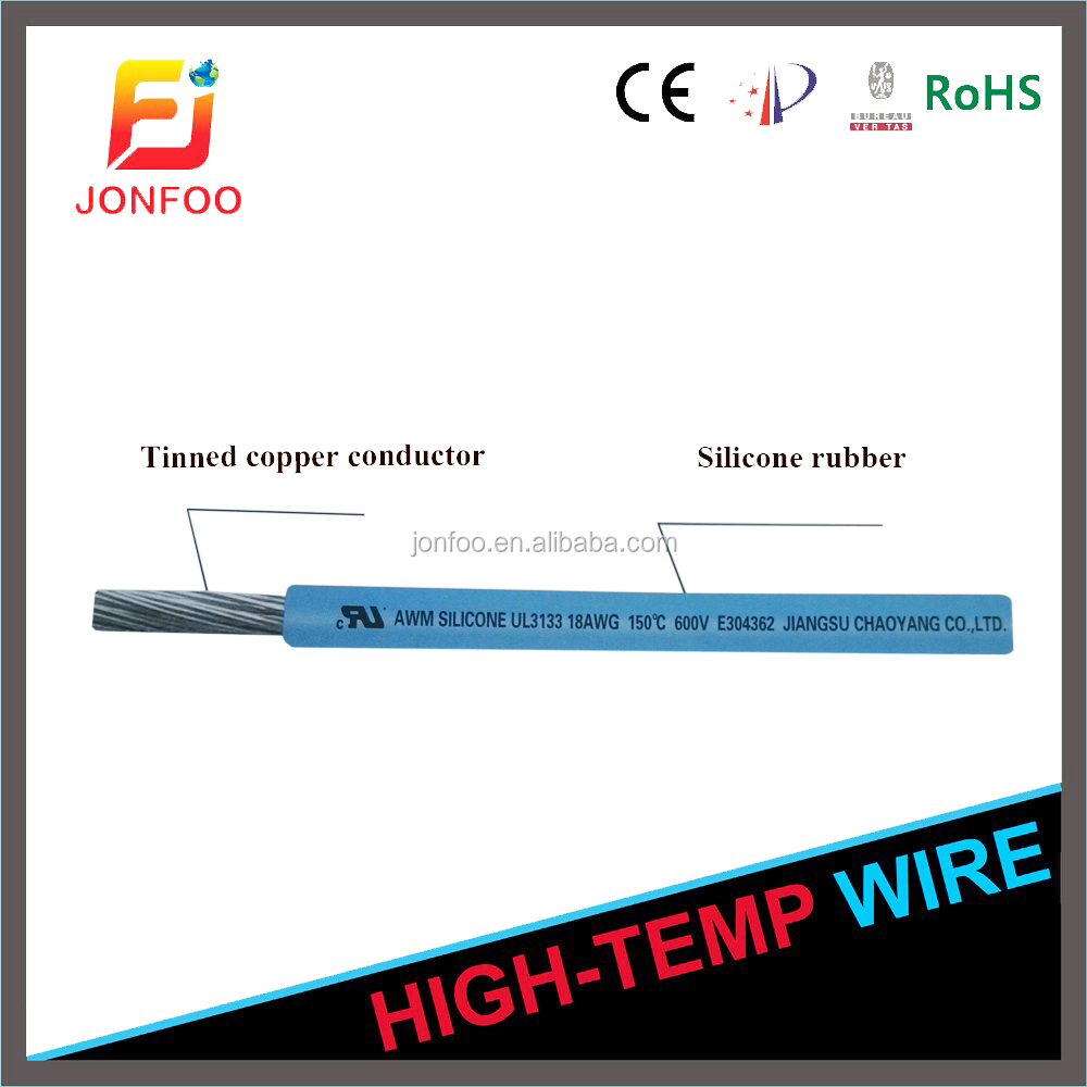 braidless silicone electrical wires and cables ul 3135 31333530 UL 3133 silicone rubber insulated heat resistance electricwire