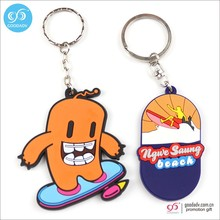Promotional gift cartoon shape 3d soft pvc keychain home keychain custom