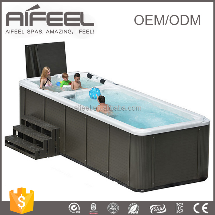 5810mm Freestanding acrylic whirlpool massage balboa control system outdoor pool above ground used swimming pool for sale
