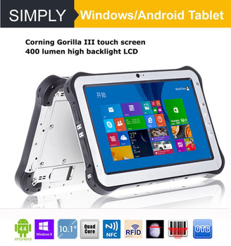 Simply T8 industrial WINDOWS cheap rugged tablet pc IP67 8300MAH 32GB+2GB 5MP+2MP 8inch touch screen