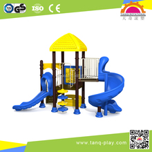 funny outdoor combined PLASTIC slide in small size in ISO 9001