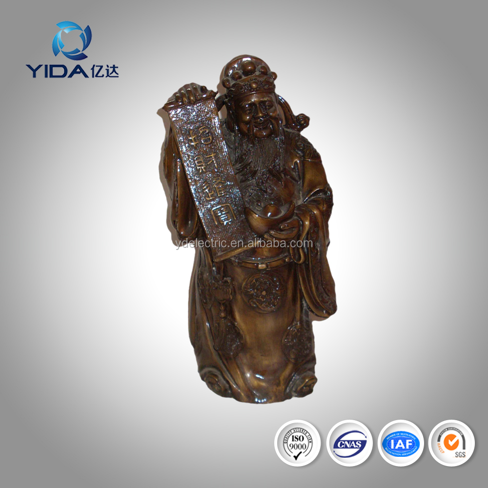 With best wishes chinese style metal Mammon buddha statue
