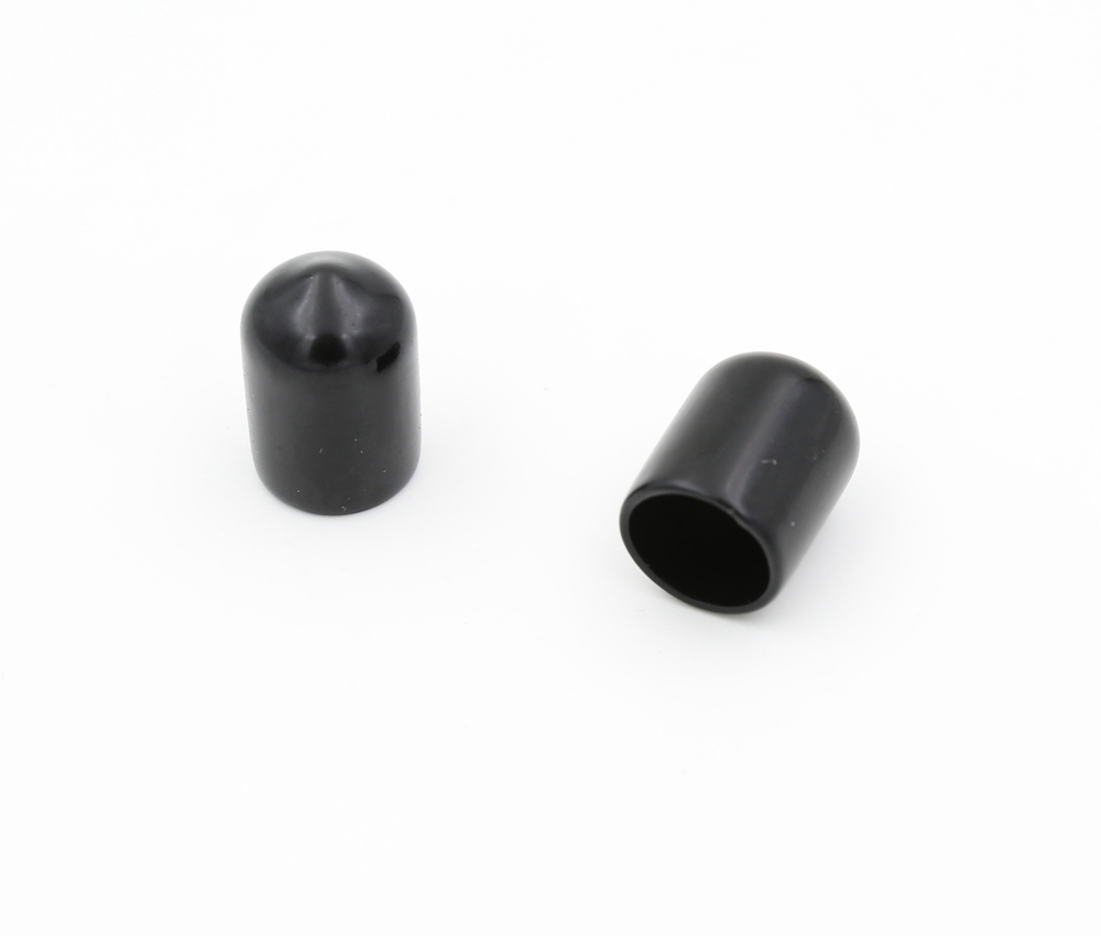 Round soft pvc end cap black ID 10mm, length 20mm wall thickness 1mm CS-<strong>10</strong>*20