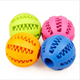 Designer Rubber Pet Dog Chew Teething Squeaky Ball Rubber Dog Toys