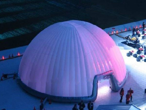 Outdoor activity inflatable igloo tent for rental/big dome tent/white inflatable igloo tent