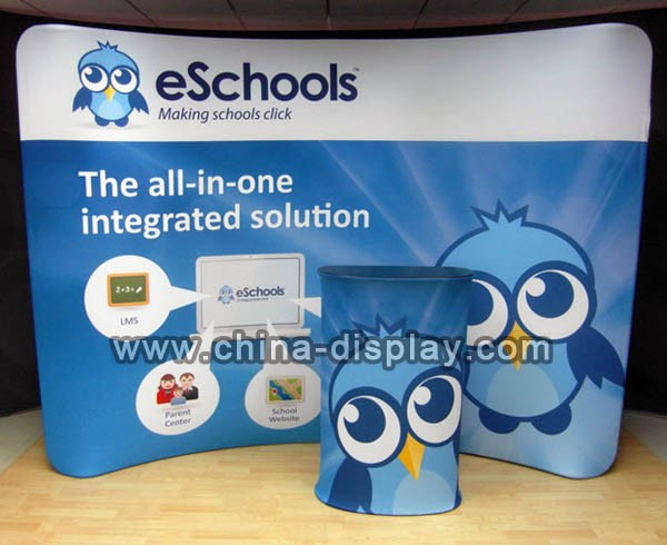 3X3 Aluminum And Tension Fabric Exhibition Booth Construction