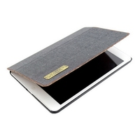 Top level manufacture fashion design leather case for ipad air