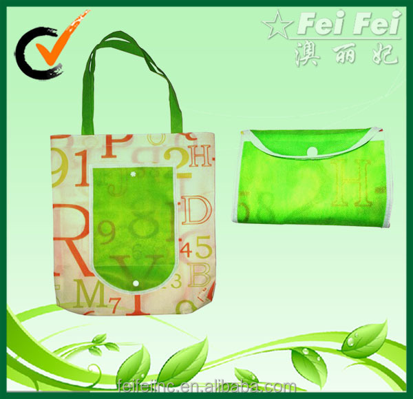 Reusable Full Color PP Non Woven Folding Bag Shopping