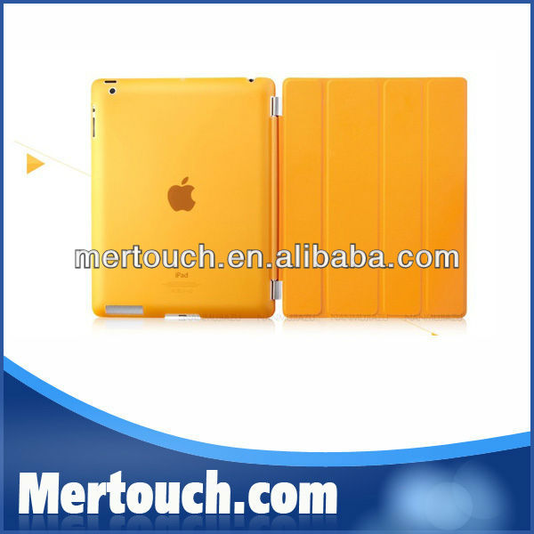Magnetic Folio Clear Hard PC Back Housing Cover for iPad 2/3/4