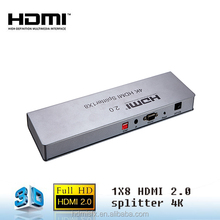 2.0 HDMI splitter 1x8 1 input 8 output audio splitter