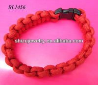Red thread paracord bracelet for adventurous girls boyes women men