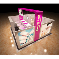 High-grade beauty salon 3D nail kiosk modern nail salon furniture