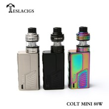 Newest Ecigarette product vape mod Teslacigs colt mini 80W with H8 mini tank from teslacigs factory