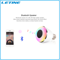 Chinese wholesale longspan energy saving smart fashion bluetooth led lighting bulb with color change and play music for home