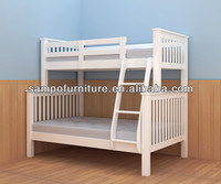 white pine wood double bed designs