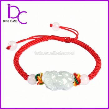 Hand-weaved Bracelet with Jadeite Jade