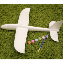 kids self assemble toy plane hand launch glider diy toy birthday gift