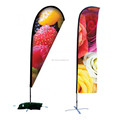 Telescopic Pole advertising Teardrop or Feather flag Outdoor Flying Wind Resistant beach flag