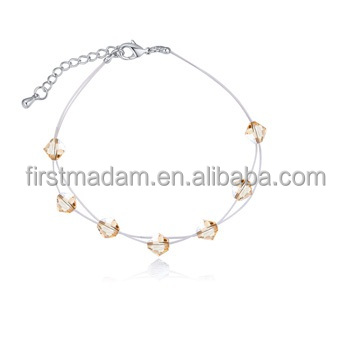 Chunky Chain Beaded Gold Jewelry Bracelets for Girls