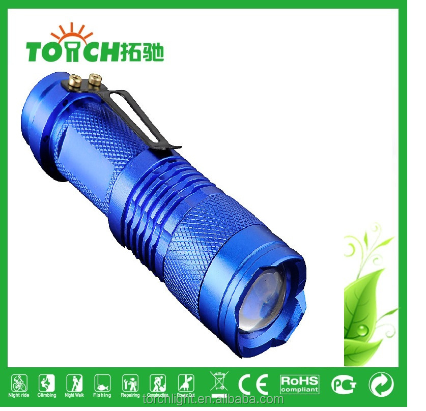 waterproof flashlight zoomable mini flashlight 3 modes emergency flashlight for outdoor camping use by 3*AA or 14500 battery