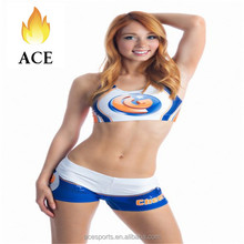 Wholesale dry fit dance cheerleading uniforms for youth girls,cheerlead bra short