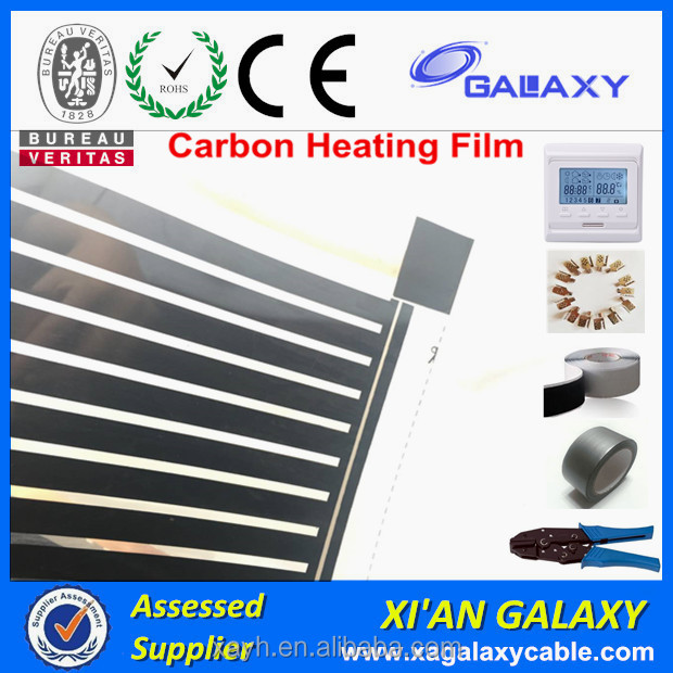 Best Discount Carbon PTC Heating Film For Home Infrared Carbon Electric Heaters With Thermostat&Tools Under Floor Heating Film