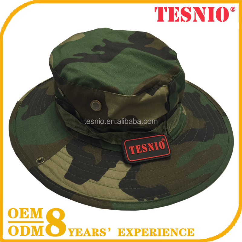 Woodland Camouflage Tactical Outdoor Cap Hunting Cap,Fishing Safari Bucket Boonie Hat