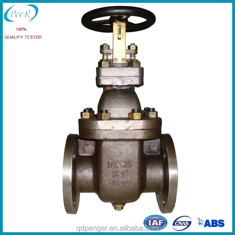 JIS F7366 10K Flange Type Cast Steel Gate Valve