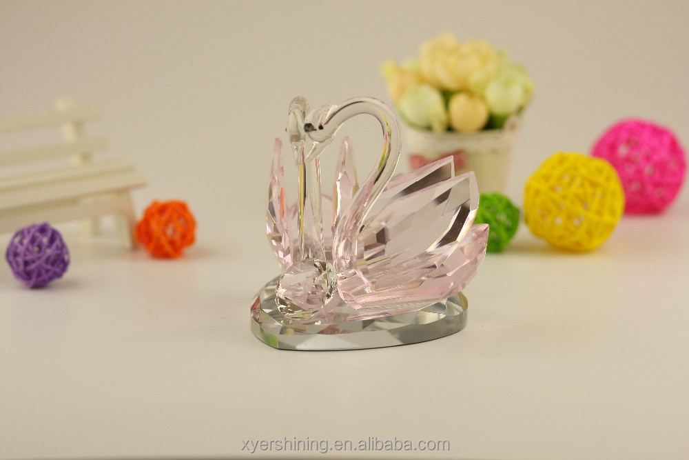 2015 new product High quality souvenirs crystal swans