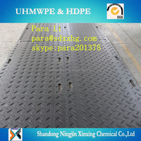 road system ground protection mat ground mat /Ground Temporary Roadways/ HDPE road mats PE plate