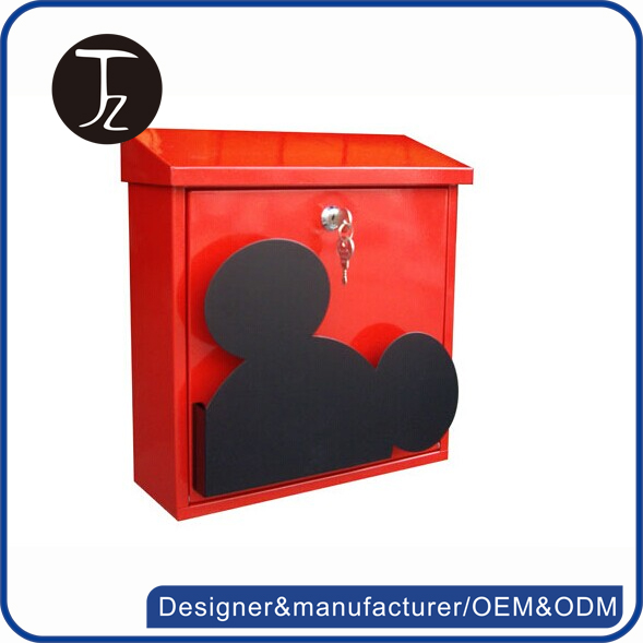Custom us wall mounted cast iron mickey mouse mailbox