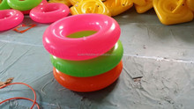 Frosted pvc inflatable swim ring water tube Floats waist ring