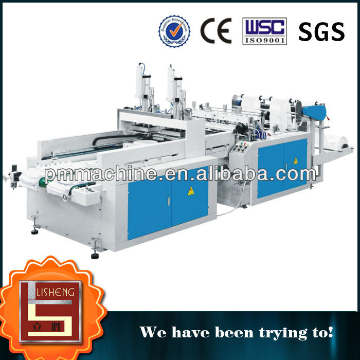 Fully Automatic T-shirt bag making Machine Two line Production
