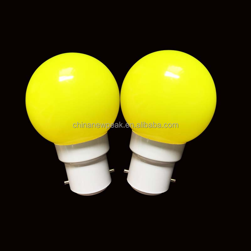 color led bulb G45 0.5w 1w 2w E27 E26 B22 base type color bulb 20161020J
