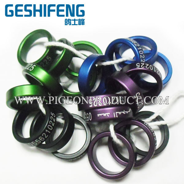 2016 All sizes All colors canary aluminium birds rings pigeon bands poultry leg band