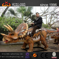 Realistic Life-Size Robotic Amusement Park Rides Robotic Dinosaur and Outdoor Equipment Fiberglass Dinosaur