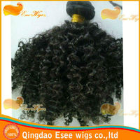 hair rio de janeiro 100% human hair mongolian curly hair weft afro curly 1b color 8-24 in stock