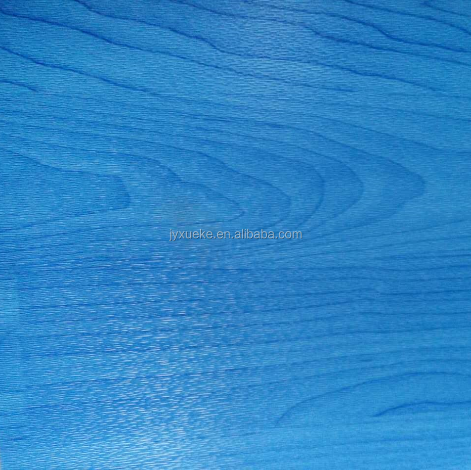 Blue PVC Wood Grain Sports Flooring
