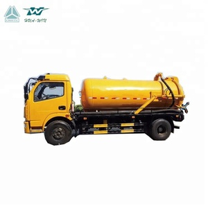 Large capacity heavy duty vacuum sewage suction tanker truck