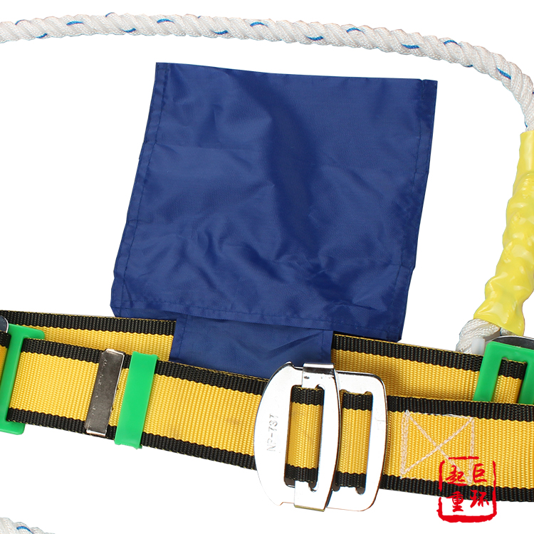 Industrial lineman working safety waist belt with tool bag