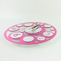 wall sticker flower clock luxuly wall clock wall wood stickers home decor