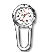 Existing mould Carabiner alloy nurse watch for out door sport pocket watch