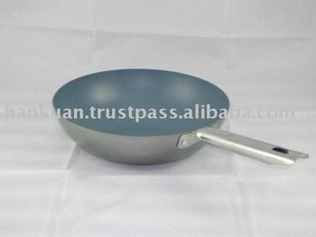 Ceramic Non-stick Stir Fry Pan with Stainless Steel Handle