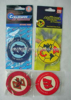 custom air freshener with backing card, printed car freshener card perfumed