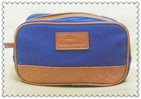 Canvas with embossed woven texture cosmetic Bag CZ-089