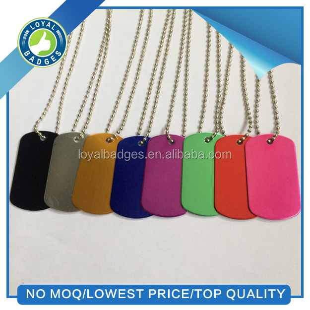 cheap Promotional blank Anodized Aluminum Dog Tag