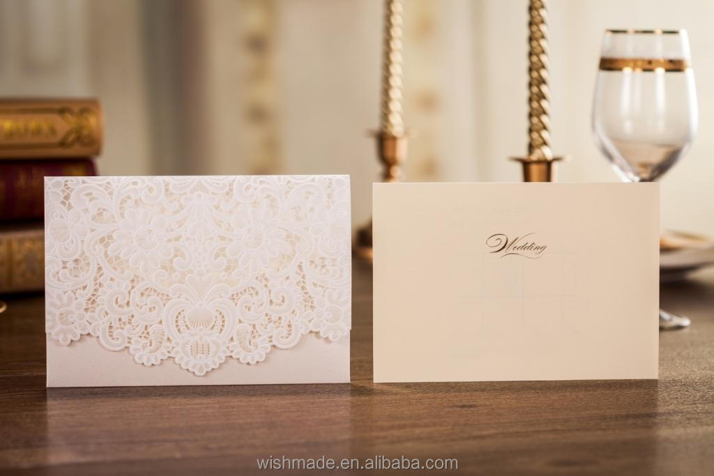 Unique Laser Cut Arabic Invitation Birthday Cards With Embossed ...